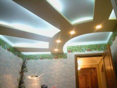 Преимущества создания потолка из гипсокартона